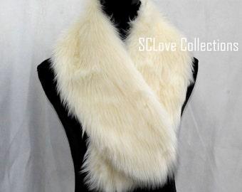 Luxury Warm White Shaggy Faux Fake Fur Wedding Shawl Stole Chic Fashion Top Seller 2014