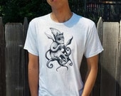 Squid Squirrel - Men's Light Grey T-Shirt