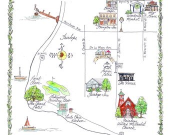 Made to Order - Custom Fairhope Wedding Map