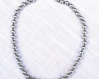 Necklace, Vintage, Monet, Faux Pearl, Gray