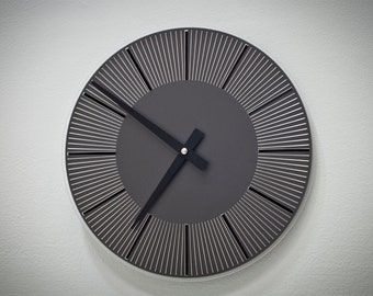 Etched Clock - Black
