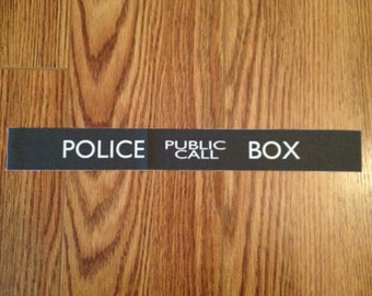 Small TARDIS Sign Fabric: Police Public Call Box- For Doctor Who Costume