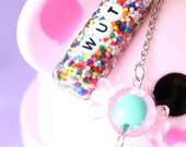 Kawaii Cute Candy Cell Phone Charm - Custom Lettering