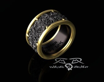 Mens gothic wedding rings