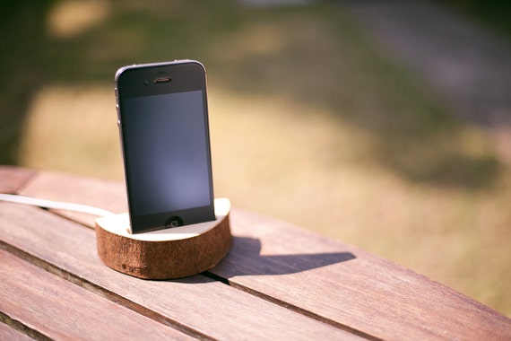 Wooden iPhone Docking Station