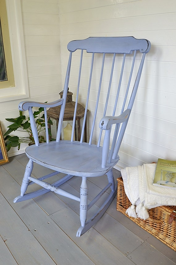 Large Blue Shabby Chic Rocking Chair Free Uk Delivery