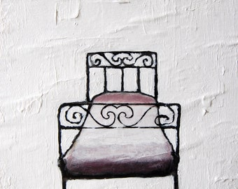 "Bed - Print - 5.9""x4.1"""
