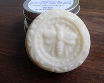 Frosted Cranberry Solid Lotion Bar ~ Homemade Artisan Solid Lotion - Preservative Free - Handcrafted Made with Beeswax - Handmade Lotion Bar