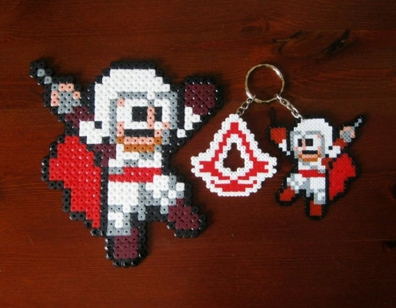 Assassins creed 8bits, keyrings, broochs or big sprite