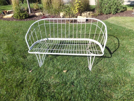 Vintage Homecrest Love SeatWhite Welded SteelSettee