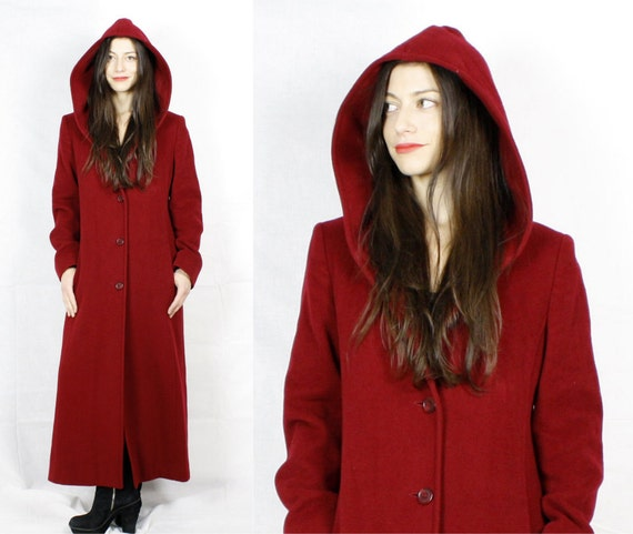 Hooded Red Coat