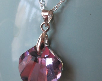 Sterling Silver Swarovski Seashell Necklace By The Darling Duck