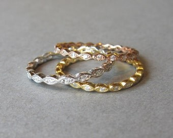 stackable ring, engagement ring, wedding ring, cz diamond ring, tiny ring, stack  ring, midi ring, knuckle ring.  infinity ring