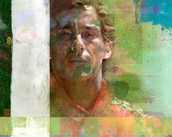 Ayrton Senna da Silva: Limited edition print.