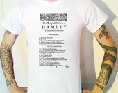 Hamlet First Page T-Shirt Shakespeare Bard First Quarto 1603 Theatre Play