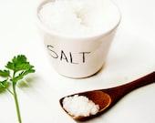 Ceramic salt cellar / Pottery salt cellar / Salt box / Salt pepper cellar / Ceramics & pottery / Scandinavian design / Ceramics