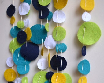 Confetti Garland - Felt - 3m length - Nursery & Home Decoration