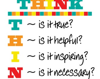 Classroom Poster Instant Download (Before you Speak...THINK)