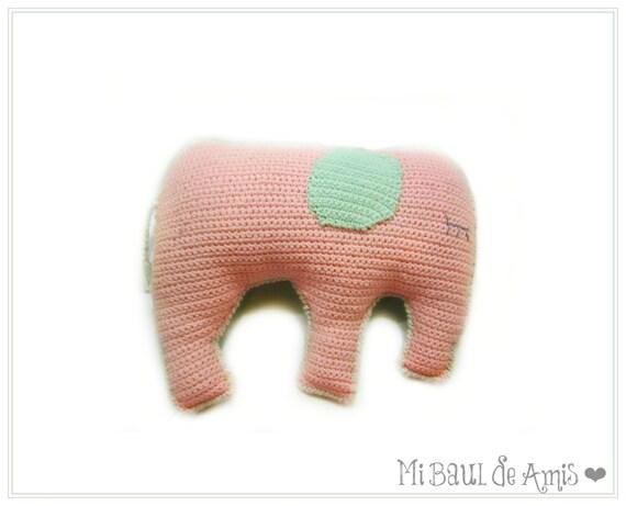 Items similar to Crochet Elephant Pillow Amigurumi Animal Stuffed Toy - MADE TO ORDER on Etsy