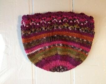 Multicolored Lacy Hat - Newborn Size