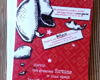 "Thinking of you Card. Sweet card for Friend. Just because card. ""Fortune Cookie"""
