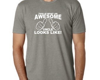 Uncle Gift Shirt This is what an AWESOME UNCLE looks like Youth Boys T-shirt tshirt New uncle T shirt  gift shirt