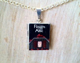 Flowers in the Attic - V.C. Andrews - Literary Locket - Book Cover Locket Necklace