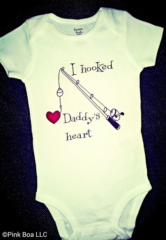 Baby Girl Clothes Baby Boy Clothes I HOOKED DADDYS HEART