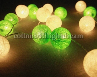 20 Green tone cotton ball,holiday,lanterns for party decoration wedding day