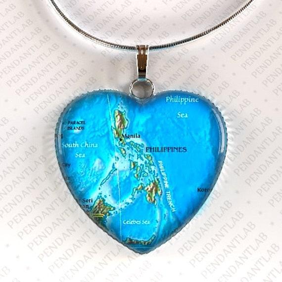 philippines map pendant philippines necklace philippines
