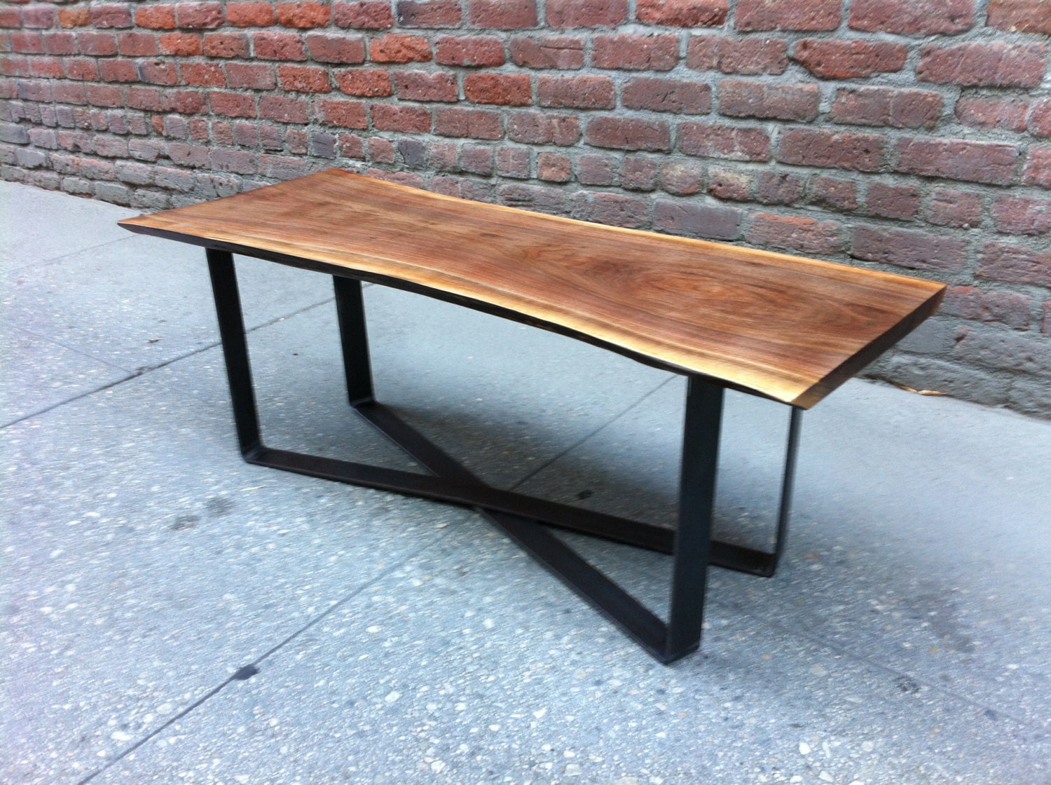 Sold Beautiful Black Walnut Live Edge Coffee Table With