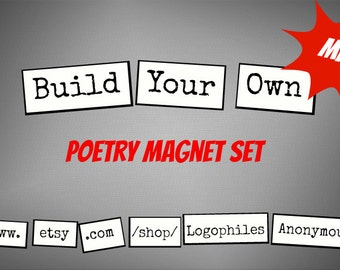 Mini Build-Your-Own Poetry Magnet Set - Refrigerator Poetry Word Magnets