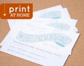 Print at Home // Custom Moving Announcement  //  Hand Lettered  // New Address Card