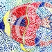 Digital File on How to Make a Pointillism Fish.  Ages 5-8