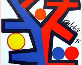 """Calder's """"Asymmetrie"""" Bold Primary Colors. Free Shipping!"""