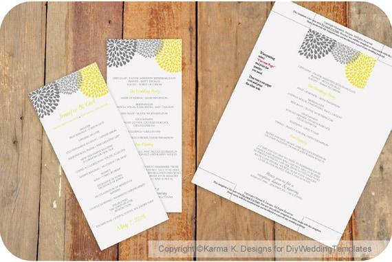 Program Template in Word Wedding Program Template