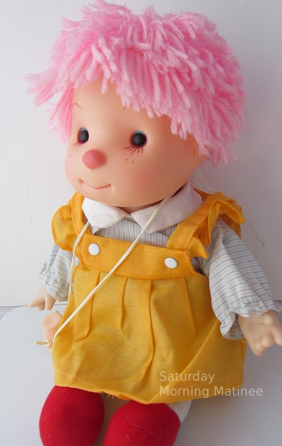 Ice Cream Girl Doll Toy Pink Hair Vintage By Saturdaymorningm