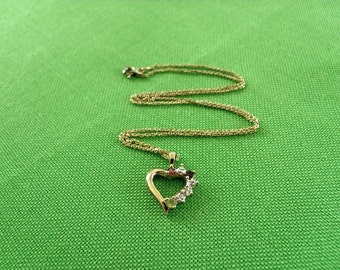 Vintage Heart Pendant Necklace (Item 497)