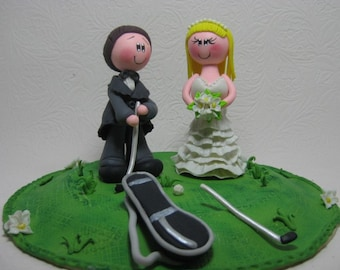 funny golf themed wedding cake toppers golfing cake topper etsy 14545