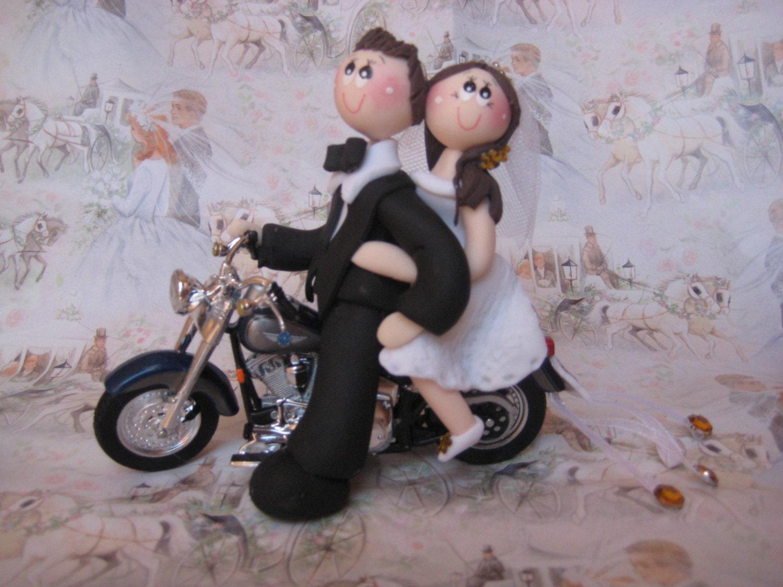 Harley Davidson Wedding: Harley Davidson Wedding Cake Topper Motorcycle Wedding Cake