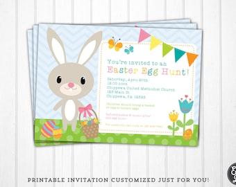 Easter Egg Hunt Invitation - Egg Hunt Invite - Birthday Invitation - Printable