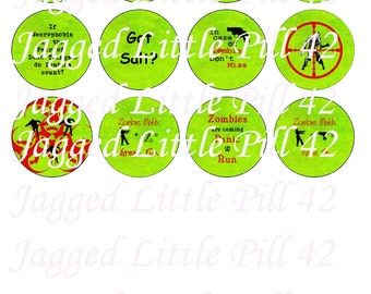 Group 1 Zombie Humor DIY Project Tecre Button 1 1/2 inch