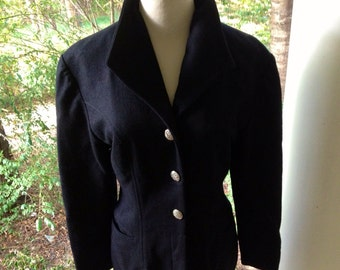 Vintage French Tailored Wool Coat