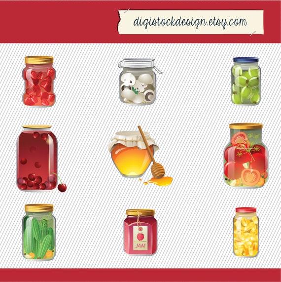 Jam Glass Jar Clipart Food Illustration Honey Jar
