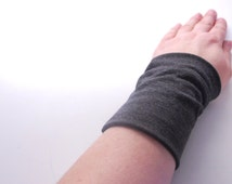 DARK GRAY Stretch Wrist Cuff Grey Wrist Bracelet Fashion accessory Women Teens Wrist Tattoo Cover
