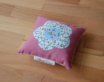 Flower Appliqué Pin Cushion Vintage Style