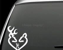 Deer Head Heart Logo