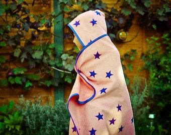 Girl's, Boy's  Hooded Star Towel, Beach, Bath, Swimming