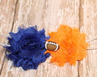 Football Headband,Florida Gators, University of Illinios, Boise State, Syracuse, baby football headband, college football headband
