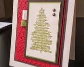Stampin' Up Handmade Greeting Card: Silent Night Christmas Tree